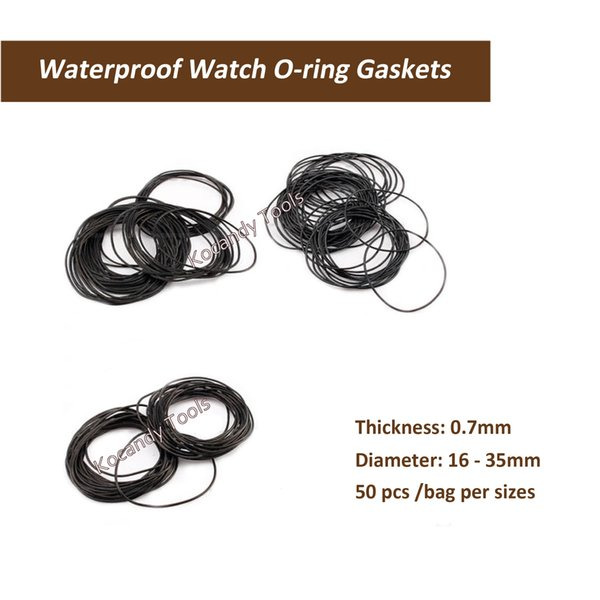 0.7mm thickness O Ring Rubber Seal Washers Waterproof Round Watch Gaskets Diameter Big Size 26mm-35mm 50 Pcs per Size
