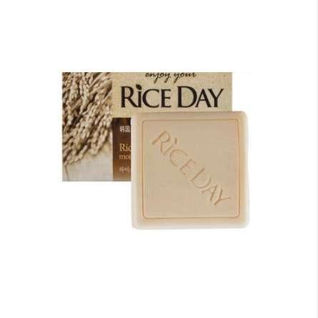 Корея рисовое мыло увлажняющий отбелить рисовые отруби масло мыло молоко ванна отбеливание мыло уход за кожей лица очищающее 100 г новый