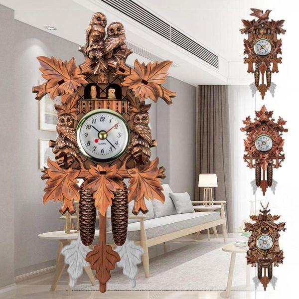 Awe Inspiring Vintage Home Decorative Bird Wall Clock Hanging Wood Cuckoo Clock Living Room Pendulum Craft Art For New House Et Wall Clock On Sale Wall Clock Download Free Architecture Designs Rallybritishbridgeorg