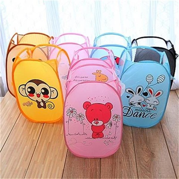 best selling Dirty Blue Portable and durable handle that folds for easy opening. Folding pop-up clothes basket for children's room, bedroom, etc. mx5059