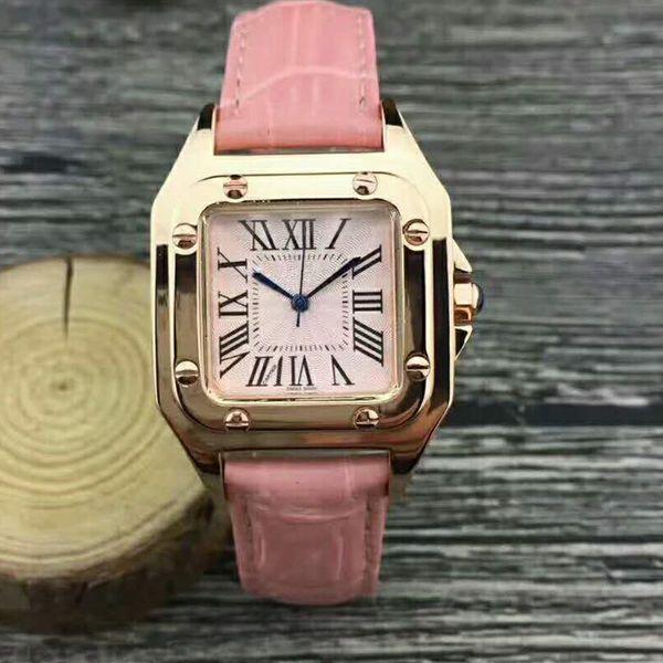 Novo modelo de casal de luxo mulheres homens dress relógios moda senhoras unisex designer de relógio de pulso de couro relógio de pulso