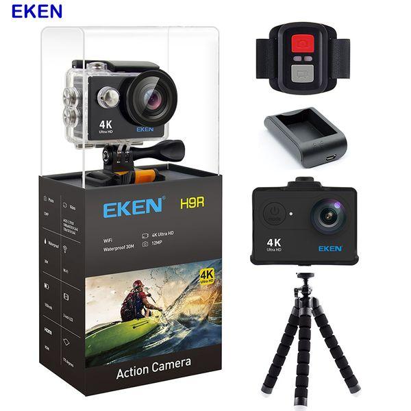 الأصلي eken عمل الكاميرا 4 كيلو كاميرا wifi للماء الرياضة كاميرا 12mp 170 درجة زاوية واسعة سيارة كاميرا استطلاع