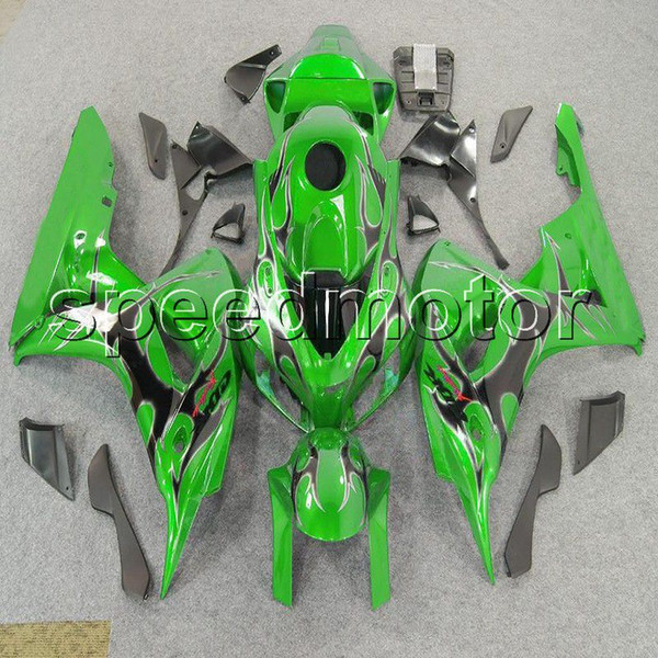 23colors+Gifts Injection mold green+black flames motorcycle cover Fairing for HONDA 2006 2007 CBR1000RR 1000RR CBR 06 07 ABS plastic kit