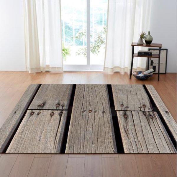 LIU Simples moda piso de Madeira sala nórdica tapete quarto tapete de veludo de coral macio sofá retangular tapete de mesa de café
