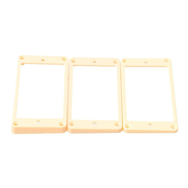 best selling Cream Plastic Humbucker Pickup Ring Slanted & Flat Bottom for Gibson Guitar