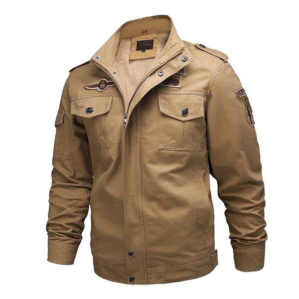 molto carino f125d 99ea3 Acquista Giubbotto Uomo Giacca Militare Cotone Soldato Un Maschio  Abbigliamento Di Marca Primavera Autunno Giacche Da Uomo Cappotti Plus Size  6XL A ...