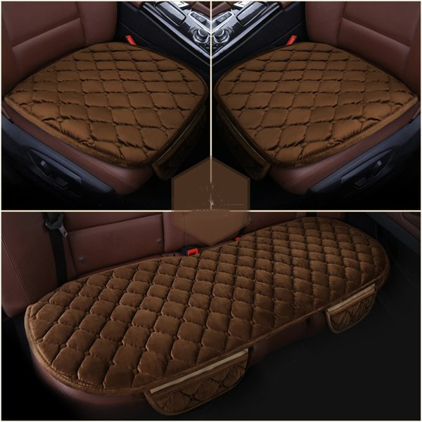 Quality Velvet Auto Seat Cover Easy to Install Chair Cushion 3PCS Front Rear Sedan Truck Triton Seat Cover