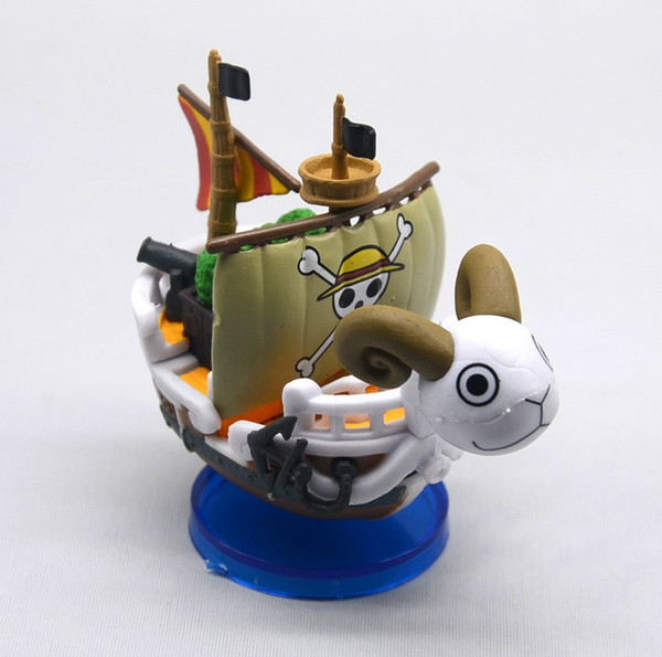 Anime One Piece Pirate Ship Action Figure Thousand Sunny Figures Ship Boat Pirate Model PVC Action Figure Toys 7cm