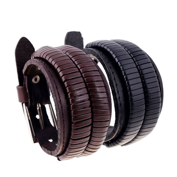 Fashion Cow Leather Bracelet Handmade Cord Weave Bracelet Newest Europe Jewelry Wholesale