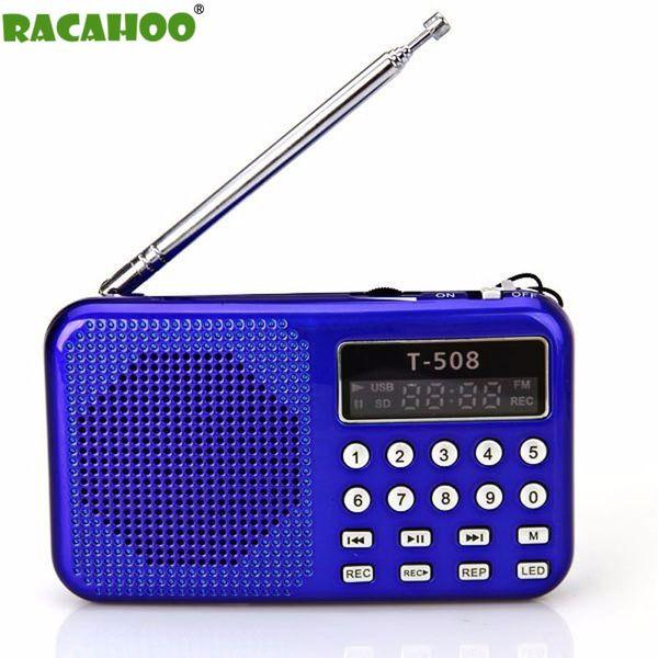 RACAHOO Taşınabilir Radyo Desteği MP3 Müzik TF / SD Kart LCD Ekran FM Radyo CD DVD Cep Telefonu Dizüstü Bilgisayar Için sıcak satış