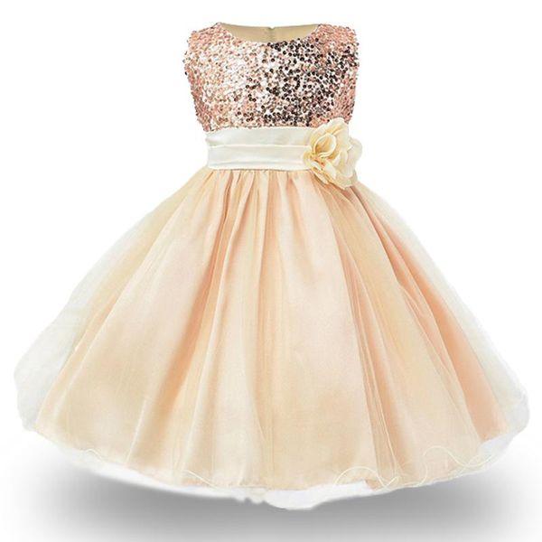 Noel Kız Elbise, Bebek Kız sequins Çiçekler Prenses Parti Elbiseler, Yeni Yıl için bebek Kız giysileri Kolsuz Vestidos
