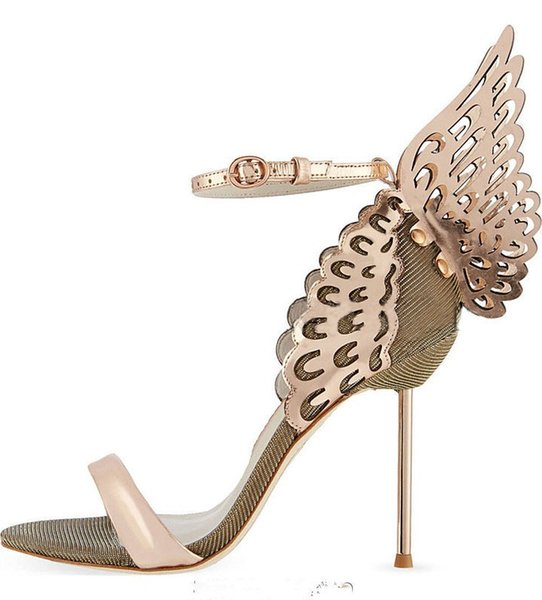 d1757593787 Fashion Butterfly-knot High Heel Sandals Open Toe Buckle Women Thin Heels  Shoes 2018 Newest Shallow Silver Party Shoes