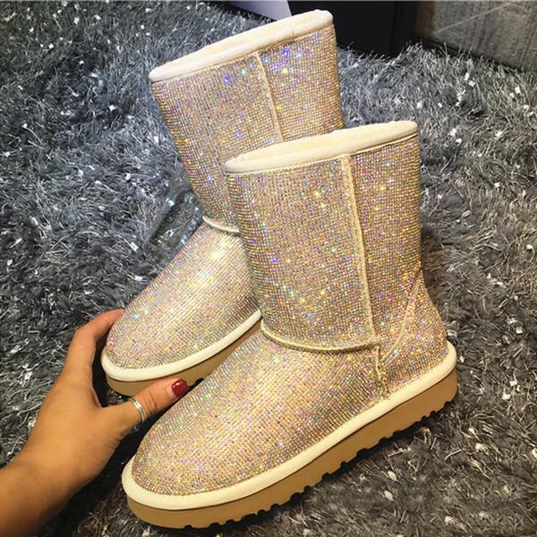 Schuhe Großhandel Wolle Integriert Ruiyee Von 2018 Keroyeah221 Winter Neu 36 Leder Damen Stiefel Diamant Schaffell 4S3AqjLc5R