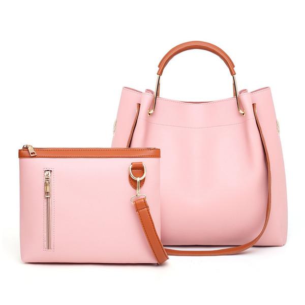 Cross Body Women Handbag PU Leather Women Shoulder Bags 2pcs/set Women Messenger Bags Ladies Casual Tote Bags sac a main free shipping