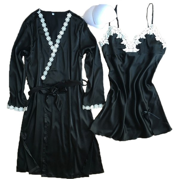 2018 Two Pieces Women\'S Bathrobe + Nightdress Robe & Gown Set Best ...