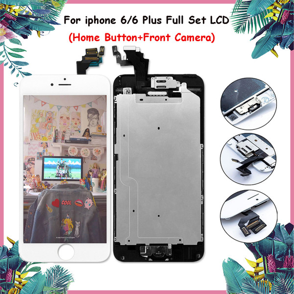 For iPhone 6 6 Plus LCD Touch AAA LCD Display Touch Screen Replacement Digitizer Full Assembly Home Button+Camera