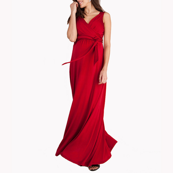 2019 HOT SALE Pregnant Women Evening Party Dress Elegant Summer Lady  Vestidos Maternity Clothes Plus Size Maternity Dresses From Happyislandtoy,  ...
