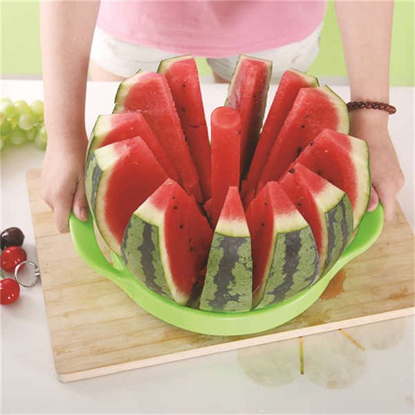 2018 Kitchen Practical Tools Creative Watermelon Slicer Melon Cutter Knife 410 Stainless Steel Fruit Cutting Slicer Dropshipping