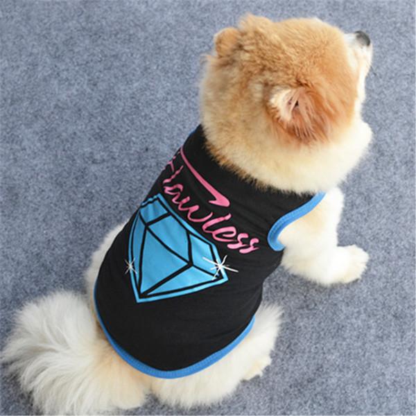 Special Design Spring Dog Clothes Vest Diamond Logo Summer Dog New Clothes Pet Vest T-shirt Summer Pet Clothing for Dog Section Thin Sets
