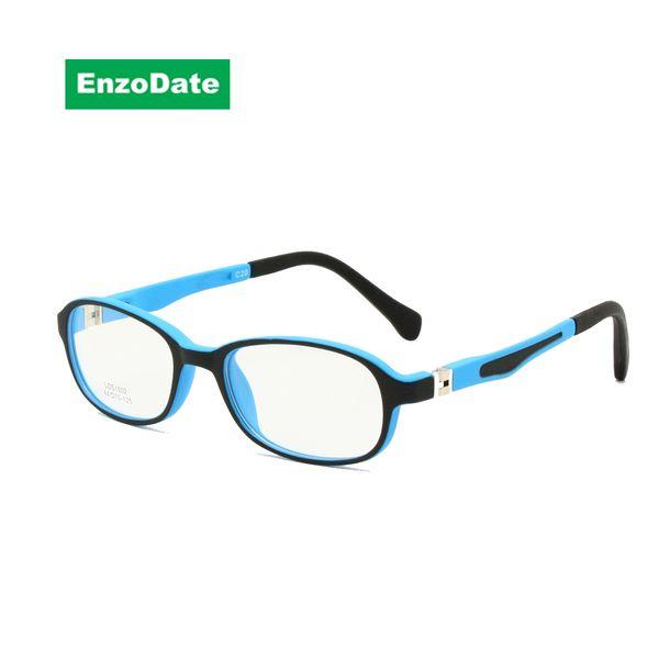 Children Glasses Frame TR90 Size 44-15 Safe Bendable with Spring Hinge Flexible Optical Boys Girls Kids Eyeglasses Clear Lenses