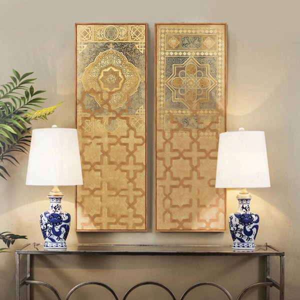 Acheter Moyen Orient Turquie Style Marocain Longue Peinture Sur Toile Pour Salon Mur Décor à La Maison Tableau Décoration Murale Duvar Tablolar De