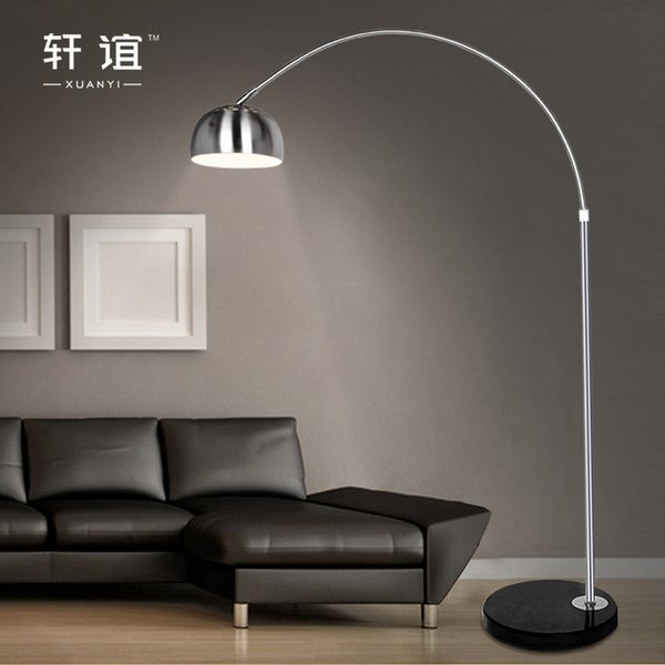 Stainless steel floor lamp fishing lamp brief mahjong light remote control piano table / XY20051 trumpet