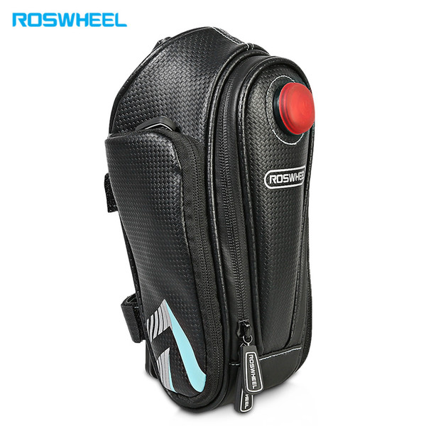ROSWHEEL Waterproof Bicycle Saddle Bag Outdoor Cycling Mountain Bike Back Seat Pouch
