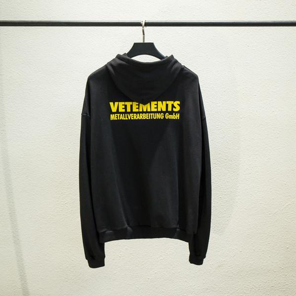 20SS New Vetements Hoodie das mulheres dos homens de alta qualidade Vetements Hip Hop capuz Vetements hoodies camisolas Tamanho S-XL