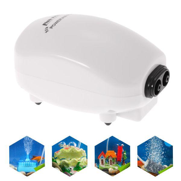 Ultra Silent Aquarium Air Pump air compressor Oxygen Airpump Single & Double Outlet 3W 220-240V EU Plug fish accessories