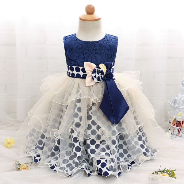 New baby full moon cocktail dress Girl's point dress Net dresses ball gown dresses free shipping RC113911