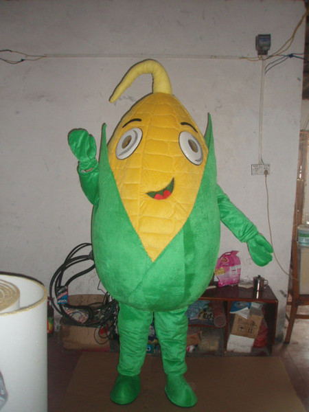 Green corn Mascot Costumes Animated theme maize crop Cospaly Cartoon mascot Character Halloween Carnival party Costume
