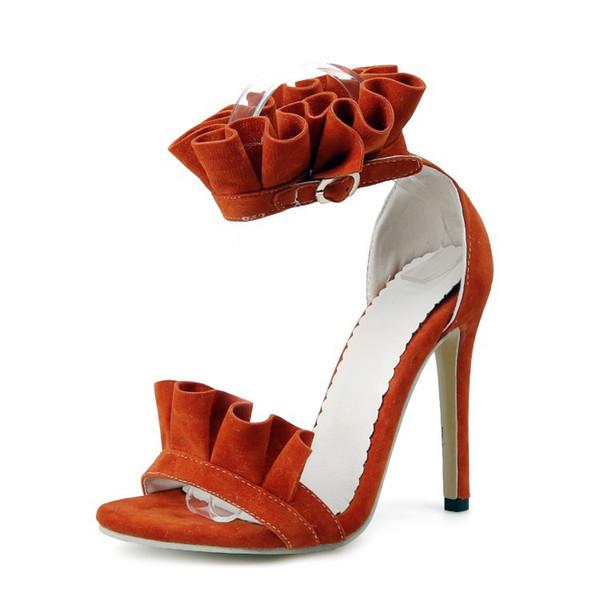 Sexy sommer dünne fersen sandalen frauen offene spitze blumen süße stil herde sandalen für dame cz239