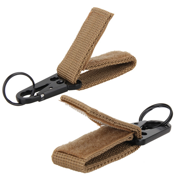 Carabiner Durable Nylon Key Belt Hook Webbing Climbing Buckle Molle Belt Hanging Camping Belt Buckle Key Ring Multi Tool 3 Color