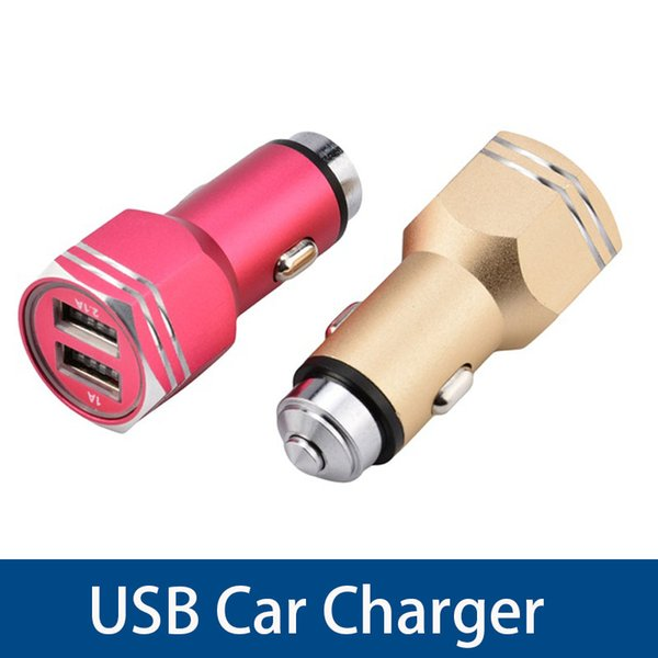 Safety Hammer Auto Car Charger Dual Max 2.1A USB Output Fast Charge Adapter For ipad Digital Camera Cell Phone Chargers