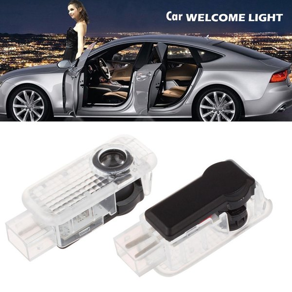 Wholesale 2pcs LED Vehicel Welcome Courtesy Laser Light Projector Logo Ghost Shadow Lamp for Audi Car Door CLT_06A