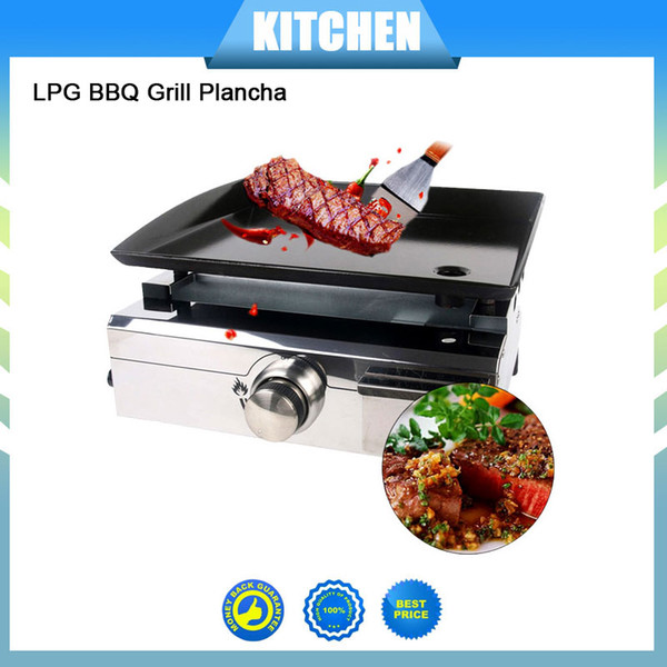 Churrasqueira a gas LPG 1 Burners Warehouse Plancha BBQ Grill Gas Griddle Outdoor Machine Steak Cooking Plate