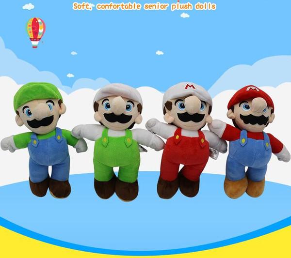 25cm Super Mario Bros Luigi Yoshi Soft Plush Toys Cosplay Animal Dolls Toys Luigi Plush Doll Stuffed Toy Best Gifts 4 design KKA5883