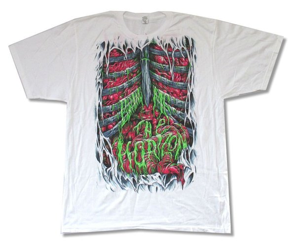 Bring Me the Horizon Spill My Guts White T Shirt New Official BMTH Men T Shirt Great Quality Funny Man Cotton