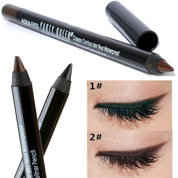 Party Queen New Eye Liner Pencil Makeup Long Lasting Waterproof Black Brown Color Pencil Eyeliner Gel