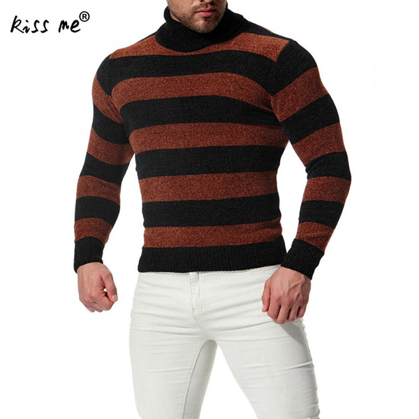 Sweater Fit Cotton Warm Mens Classic 2018 Men Pullover Slim Winter Turtleneck Thick Homme Long Pull From Sweaters Knitwear Odelettu Sleeve TJ1clFK3