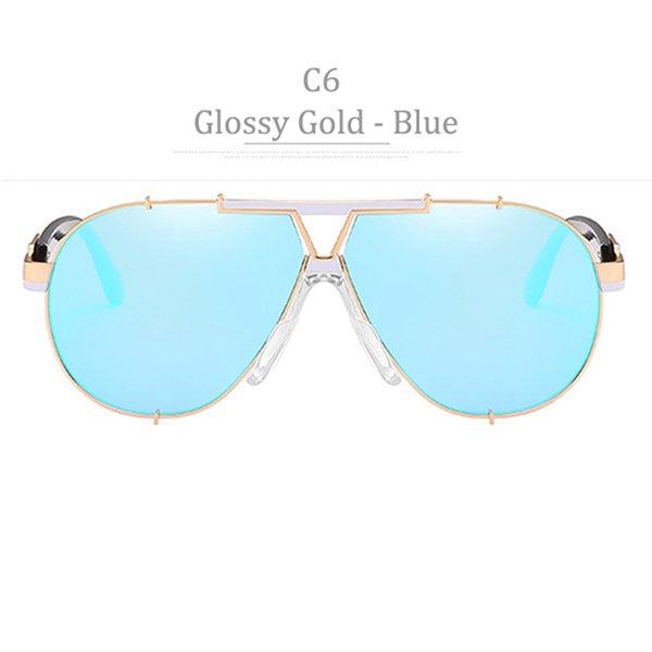 Lente blu C6 Golssy Gold Frame