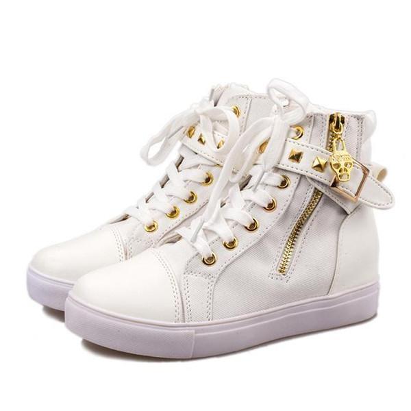 BENZELOR Otoño Invierno Botas de Lona Zapatos de Mujer Casual Plataforma Calcetines Sólidos Streetwear Hip Hop Coreana Tobillo Mujer Bota