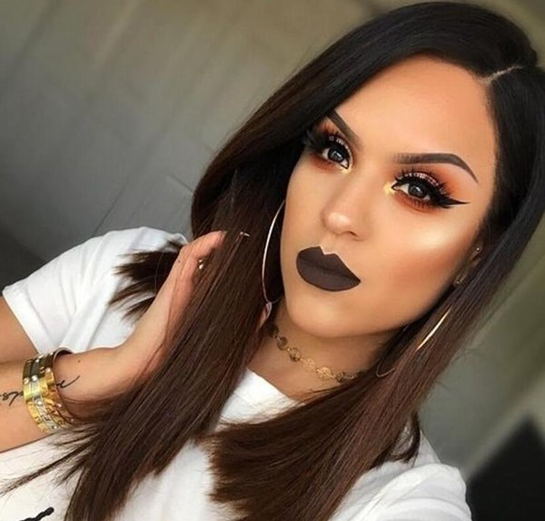Fashion 1B 30Ombre Gloden Brown Lace Front Human Hair Lace Wigs With Baby Hair Brazilian Remy Hair Short Bob Wigs Pre Plucked