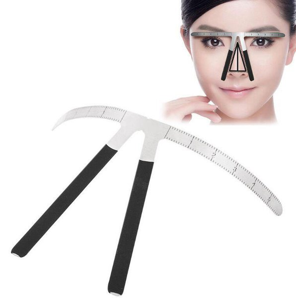 Professional Microblading Eyebrow Tattoo Stencil Ruler Shaper Template Makeup Tattoo Accessories Supply