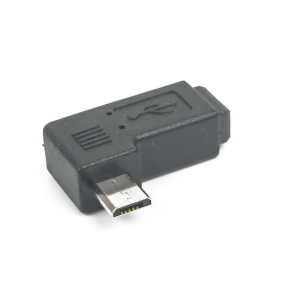 Mini USB Type B Female to Micro USB Male 90 Degree Right Angle Adapter