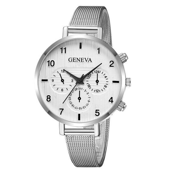 2018 neue Frau Mode Casual Uhr Silber Mesh Gürtel Uhr Dame Quarz Handgelenk Armbanduhren Uhr Relogio Drop Shipping