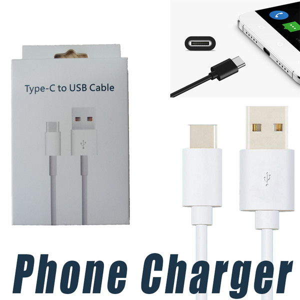 Fast Charging 1M 3FT 2M 6ft Type C Phone Cable Data Sync Cord for Samsung Note 8 S8 S9 Plus HTC LG Android iPhone Charger Cable