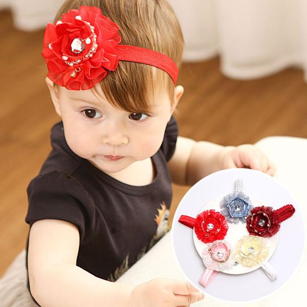 Boutique Fashion Cute Glitter 3D Gemstone Tiaras Hairbands Solid Kawaii Gauze Cutouts Crown Soft Headbands Headware Hair Accessories For Children Kids