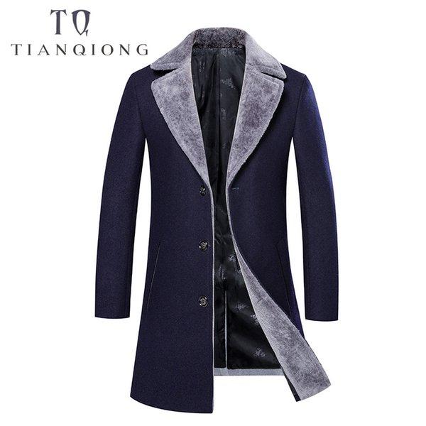 2018 Kış erkek Moda Yün Trençkot Ceket erkek Rahat Yünlü Ceketler Yün Iş Klasik Erkekler Palto Ceketler