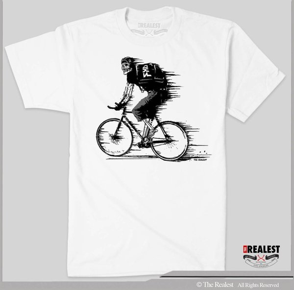 FIXED GEAR T SHIRT RIDE TILL YOU DIE SIZES M-3XL SKULL ON FIXIE BIKE Quality T Shirts Men Printing Short Sleeve O Neck Tshirt